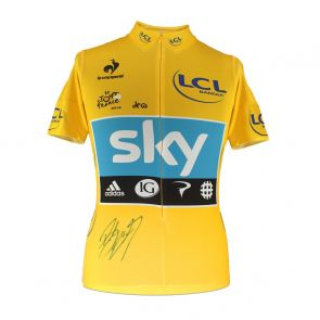 Sir Bradley Wiggins signed 2012 yellow jersey