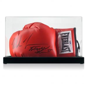 Mike Tyson Frank Bruno Signed Glove In Display Case