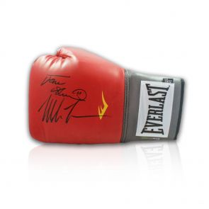 Frank Bruno And Mike Tyson Signed Glove