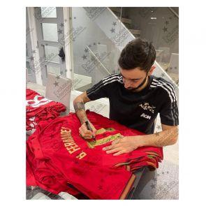 Bruno Fernandes Signed Portugal Shirt. Standard Frame