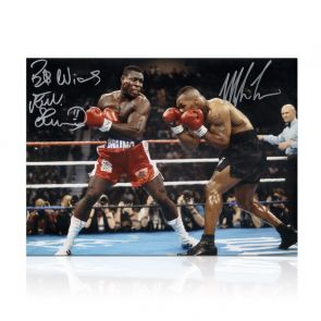 Mike Tyson And Frank Bruno Signed Boxing Photo