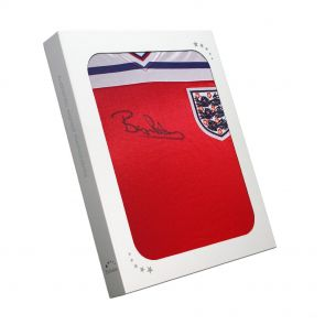 Bryan Robson Signed 1982 England Red Away Jersey In Gift Box