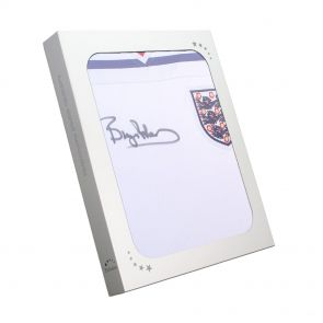 Bryan Robson Signed 1982 England Home Jersey In Gift Box
