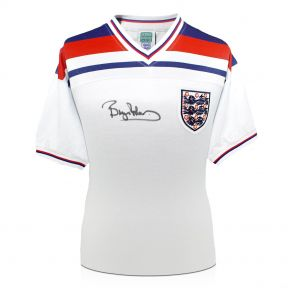 Bryan Robson Signed 1982 England Home Shirt In Gift Box