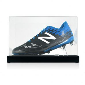 Bryan Robson Signed Football Boot In Display Case
