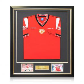 Signed And Framed Bryan Robson Manchester United Shirt
