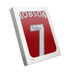 Signed Bryan Robson Manchester United Shirt In Gift Box
