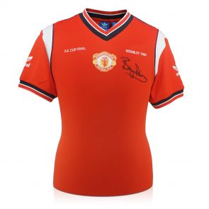 Signed Bryan Robson Manchester United Shirt