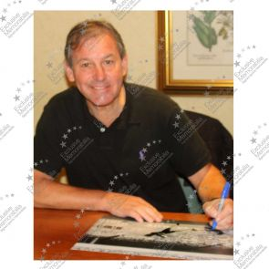 Bryan Robson Signed England Photo: Fastest World Cup Goal