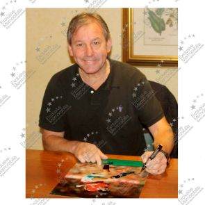 Bryan Robson Signed Manchester United Photo. Framed