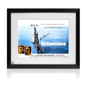Framed Burt Reynolds Signed Deliverance Poster