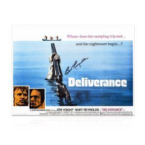 Burt Reynolds Signed Deliverance Poster