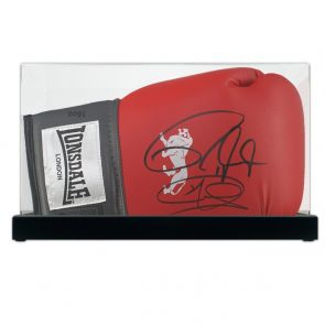 Joe Calzaghe And Roy Jones Jr Signed Boxing Glove In Display Case