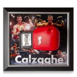 Joe Calzaghe Signed Boxing Glove Framed
