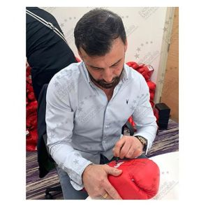 Joe Calzaghe Signed Boxing Glove. Damaged Stock B
