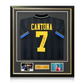 Eric Cantona Back Signed Manchester United 1994 Black Shirt