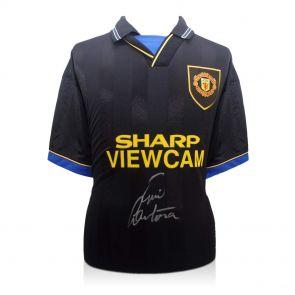 Eric Cantona Signed Black Man Utd Shirt