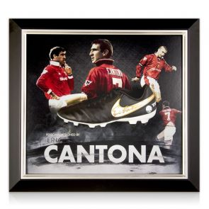 Eric Cantona Signed Football Boot Framed