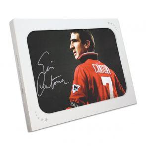 Eric Cantona Signed Manchester United Photo. Gift Box