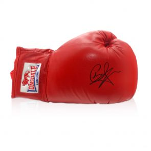 Carl Froch Signed Red Boxing Glove In Gift Box