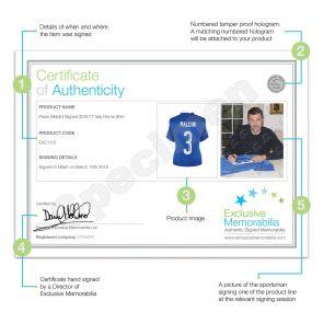 Paolo Maldini Signed 2016-17 Italy Home Shirt