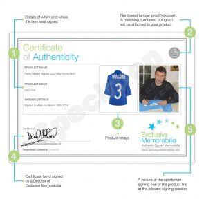Paolo Maldini Signed 2002 Italy Home Shirt