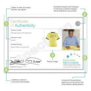 Deluxe Framed Pele Signed Brazil 1970 Shirt