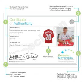 Ole Gunnar Solskjaer Back Signed 1999 Manchester United Champions League Shirt