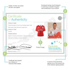 Teddy Sheringham And Ole Gunnar Solskjaer Signed 1999 Manchester United Champions League Shirt. Deluxe Frame