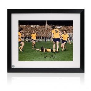 Framed Charlie George Signed Photo