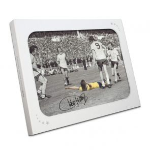 Charlie George Signed Arsenal 1971 FA Cup Final Photo. In Gift Box