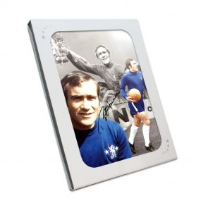 Ron Harris Signed Chelsea Photograph In Gift Box