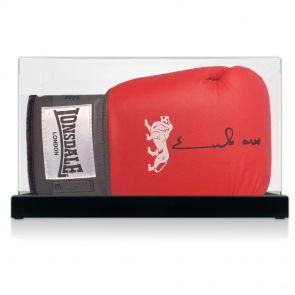 Signed Chris Eubank Boxing Glove In Display Case