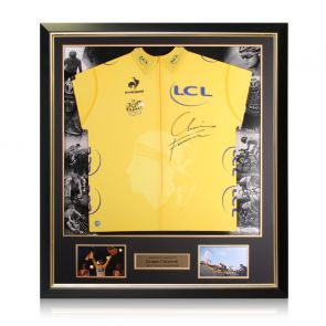 Chris Froome Signed Tour De France 2013 Yellow Jersey. Luxury Frame