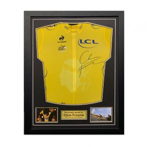 Chris Froome Signed Tour De France 2013 Yellow Jersey. Standard Frame