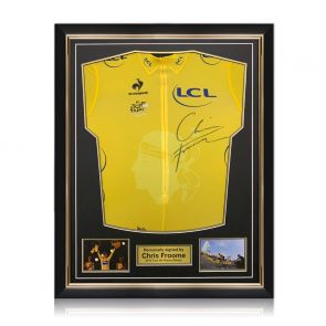 Chris Froome Signed Tour De France 2013 Yellow Jersey. Superior Frame