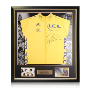 Chris Froome Signed Tour De France 2017 Yellow Jersey. Luxury Frame