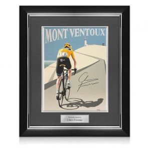 Chris Froome Signed Cycling Fine Art Print: Victory On Mont Ventoux. Deluxe Frame