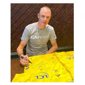 Chris Froome Signed Tour De France 2017 Yellow Jersey. Standard Frame