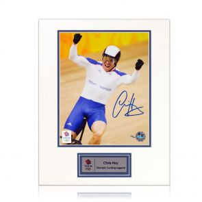 Sir Chris Hoy Signed Signed Olympics Photograph