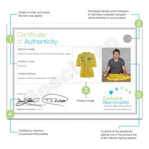 Preorder A Dedicated Geraint Thomas Signed Tour De France 2018 Yellow Jersey