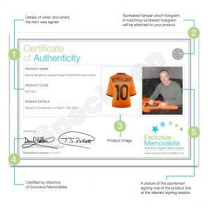 Dennis Bergkamp Signed 2000-02 Holland Home Shirt