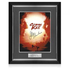 Ralph Macchio Signed Cobra Kai 2 Poster. Deluxe Frame