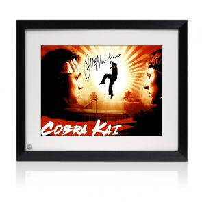 Ralph Macchio Signed Cobra Kai Poster. Framed