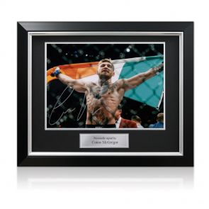 Framed Conor McGregor Signed Photo: UFC 194 Victory