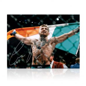 Conor McGregor Signed Photo: UFC 194 Victory. In Gift Box