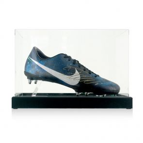 Cristiano Ronaldo Signed Football Boot in Display Case