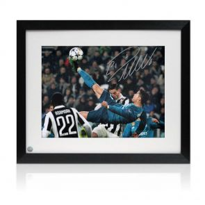 Cristiano Ronaldo Signed And Framed Real Madrid Photograph: The Overhead Kick