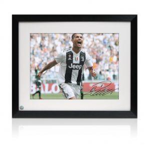 Cristiano Ronaldo Signed Juventus Photo