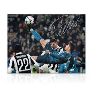 Cristiano Ronaldo Signed Real Madrid Photograph: The Overhead Kick